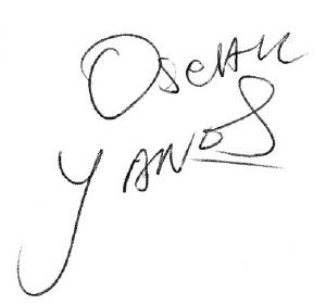 Oscar Yanes signature