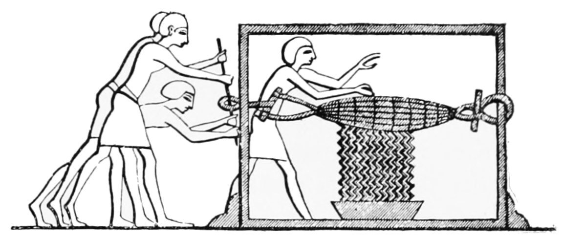 PSM V51 D243 Wine press of matting.png