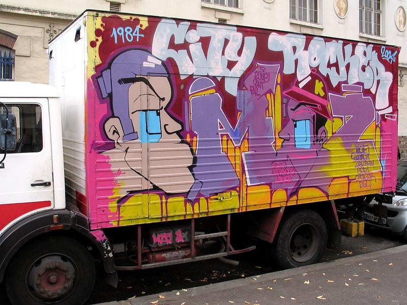 graffiti advertisement paris commercial