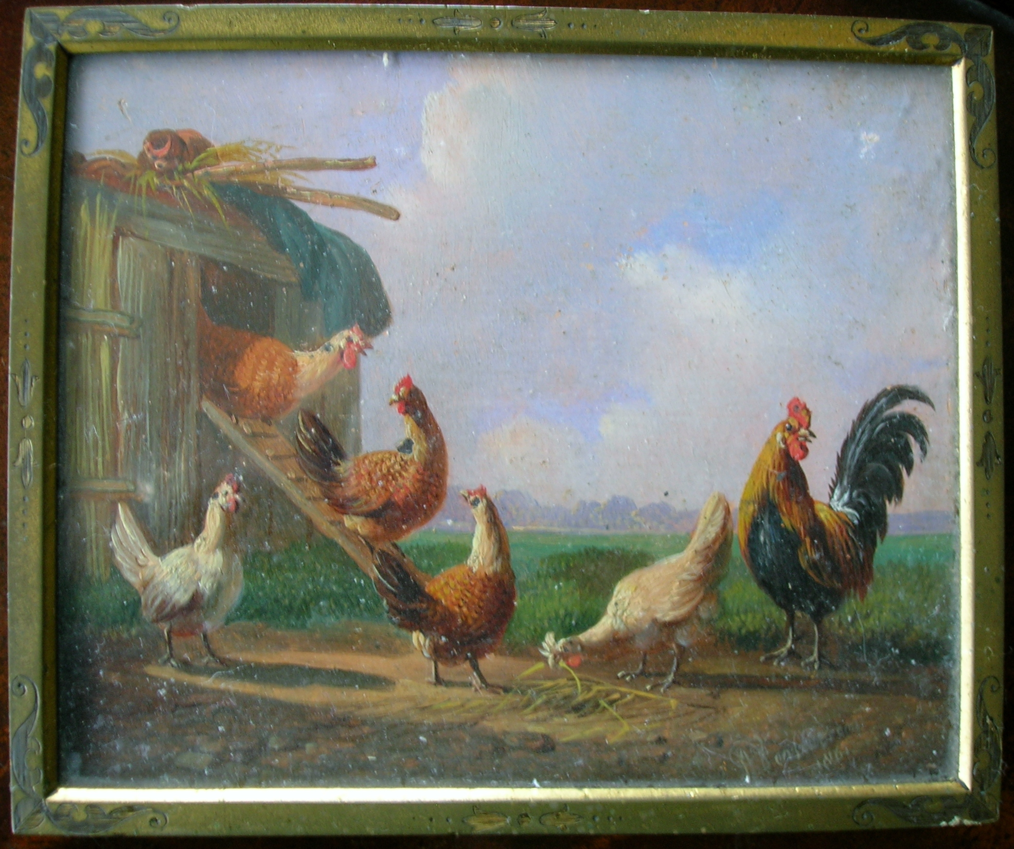 file painting of chickens from eglinton castle jpg wikimedia commons