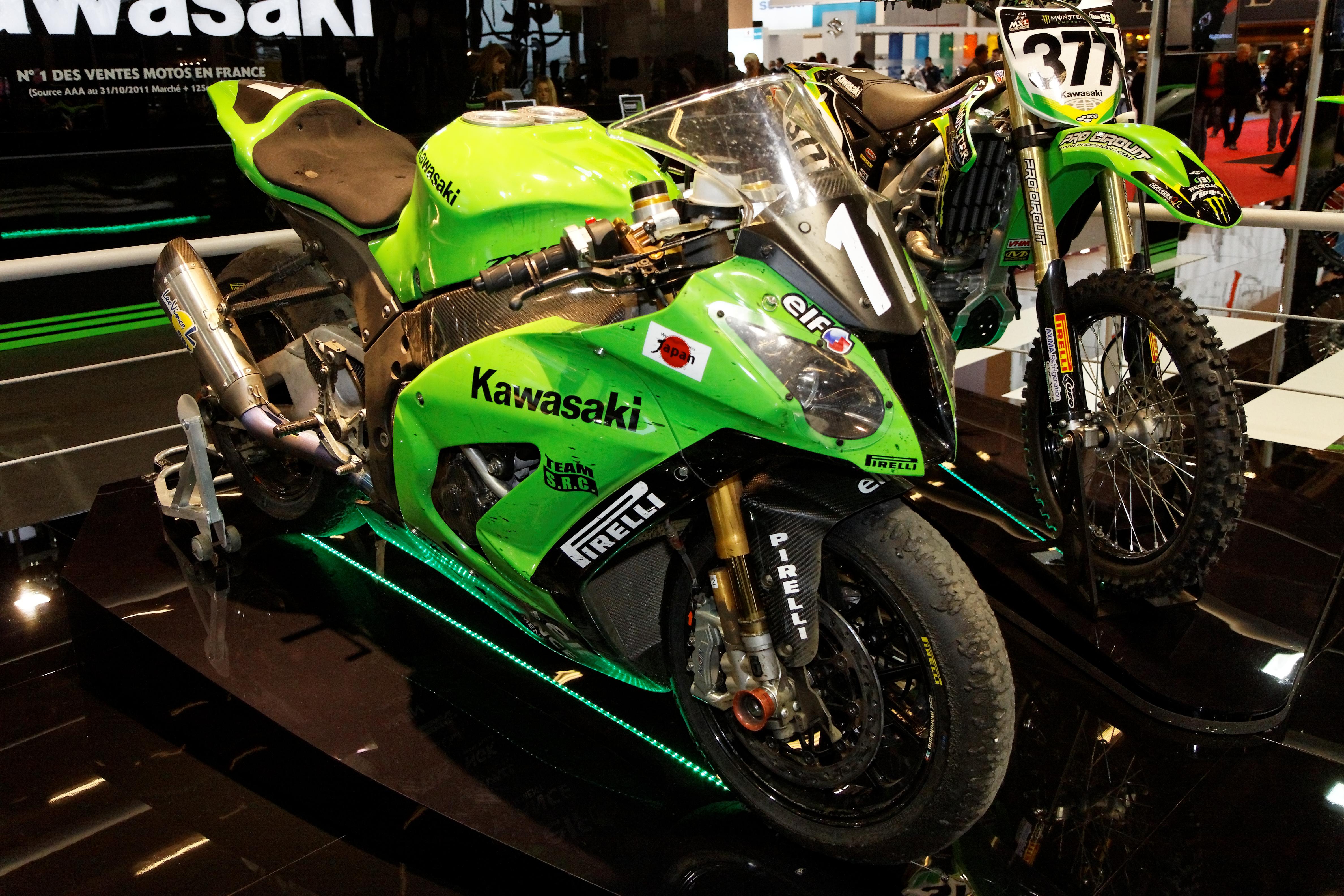 Fileparis Salon De La Moto 2011 Kawasaki Ninja Zx 10r Team