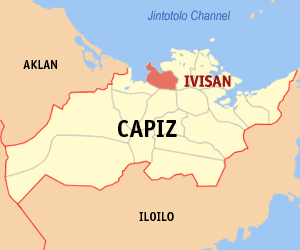 Map of Capiz showing the location of Ivisan