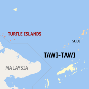 Map of Tawi-Tawi showing the location of Turtle Islands