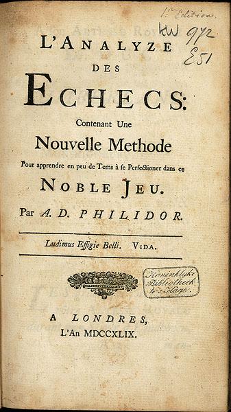 Philidor-L'Analyse du Jeu des Echecs