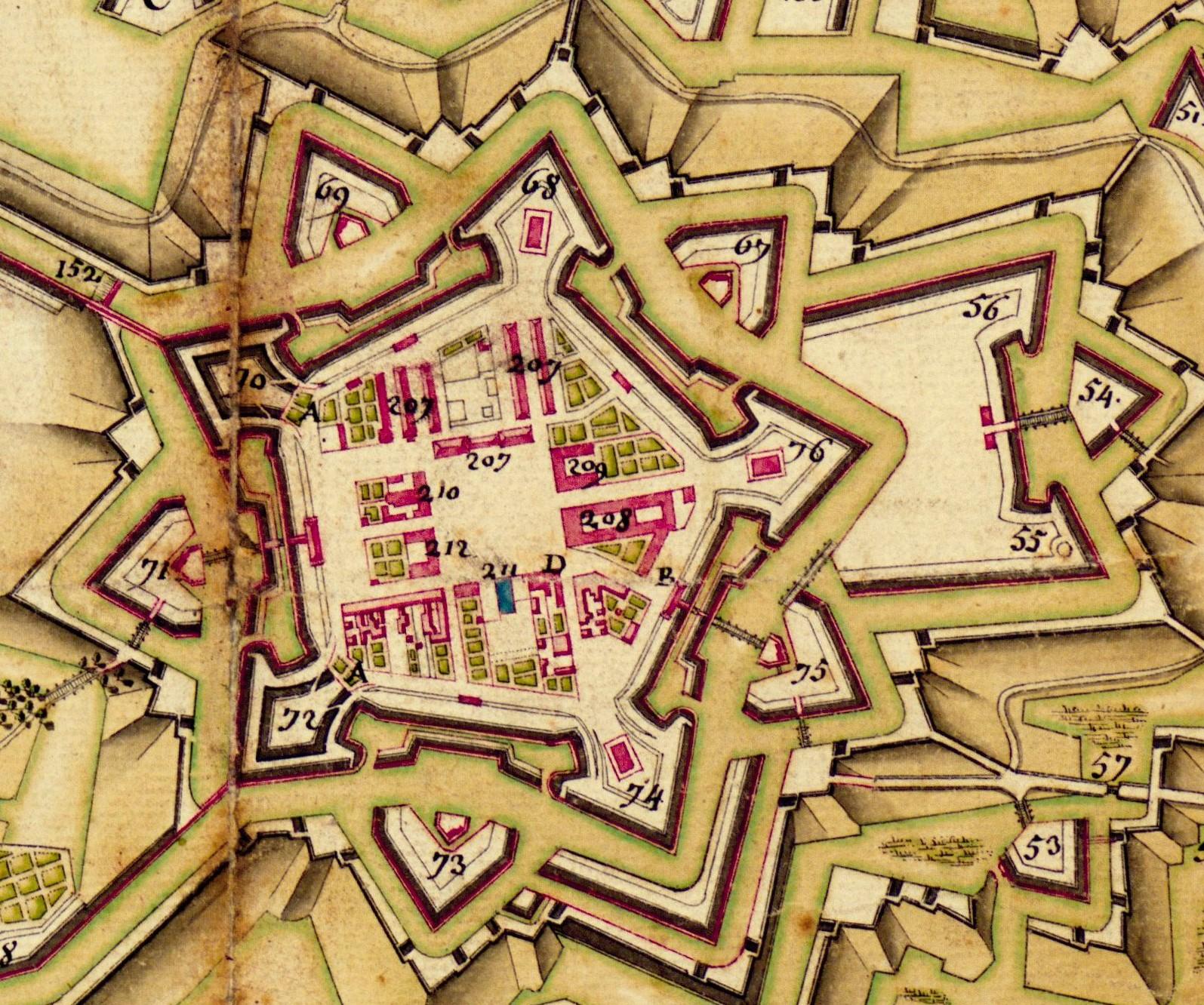 Vauban, plan de la citadelle de Strasbourg