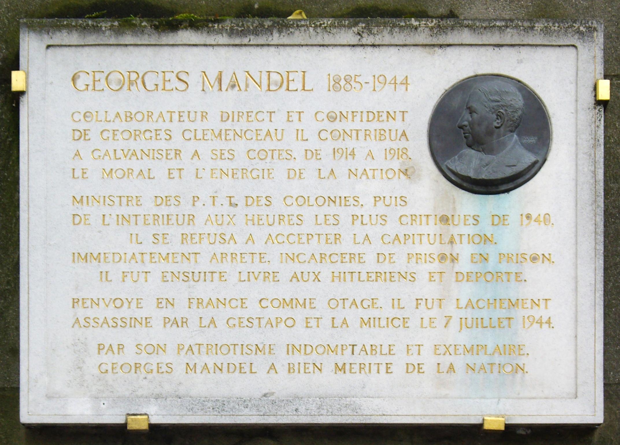 File plaque georges mandel avenue georges mandel paris wikimedia c - Avenue georges mandel ...