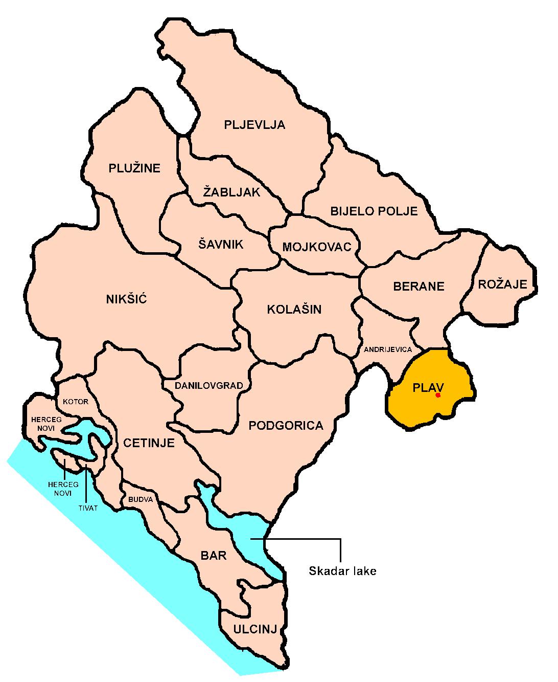 plav crna gora mapa Plav – Wikipedija plav crna gora mapa