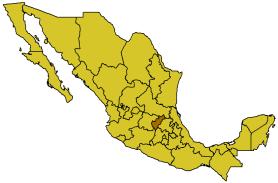 Керетаро Артеага, карта