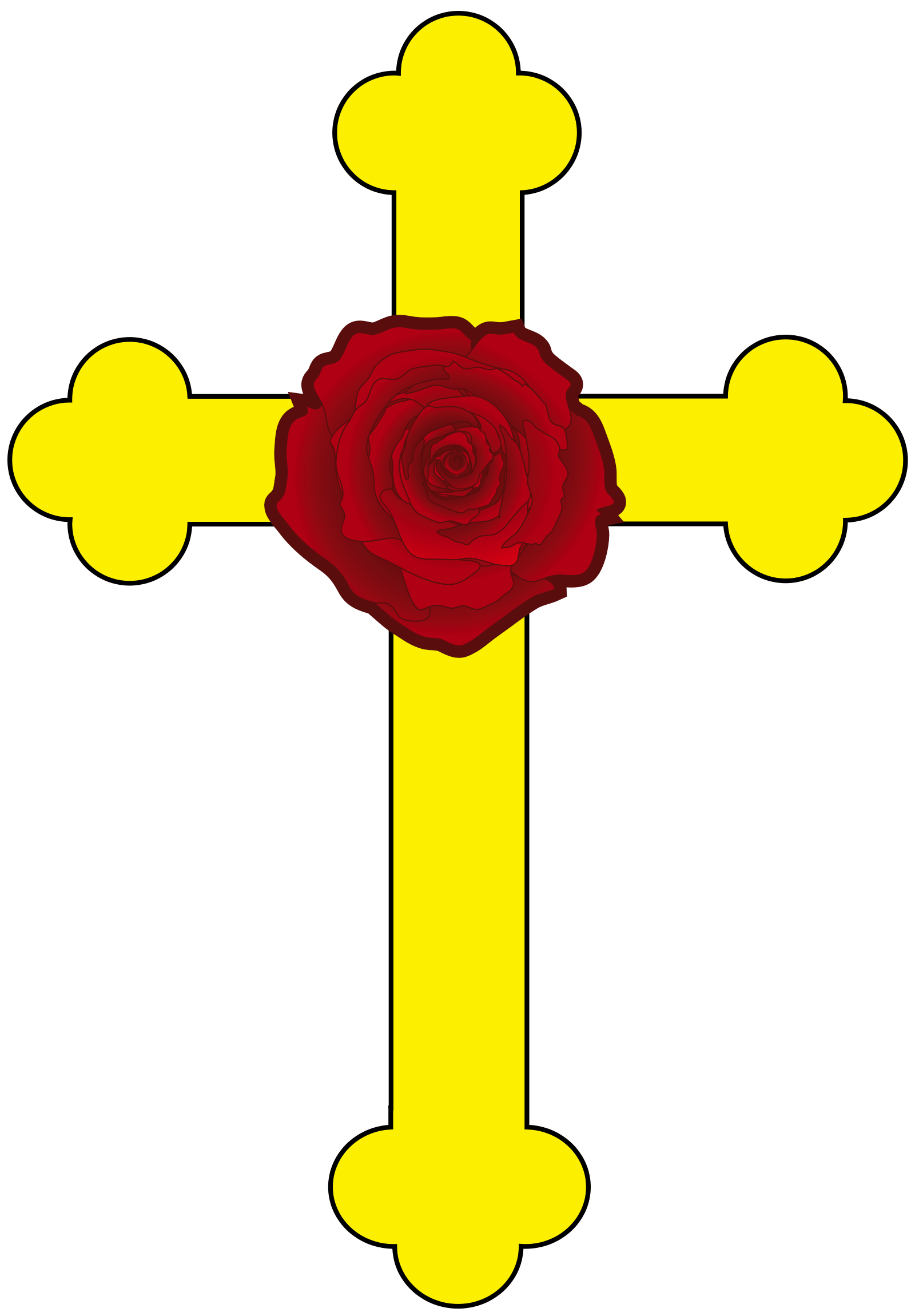 graphic about Religious Cross Template Printable identified as Rose Cross - Wikipedia