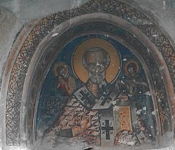 Saint Nicholas of Gourna Church Fresco 01.jpg