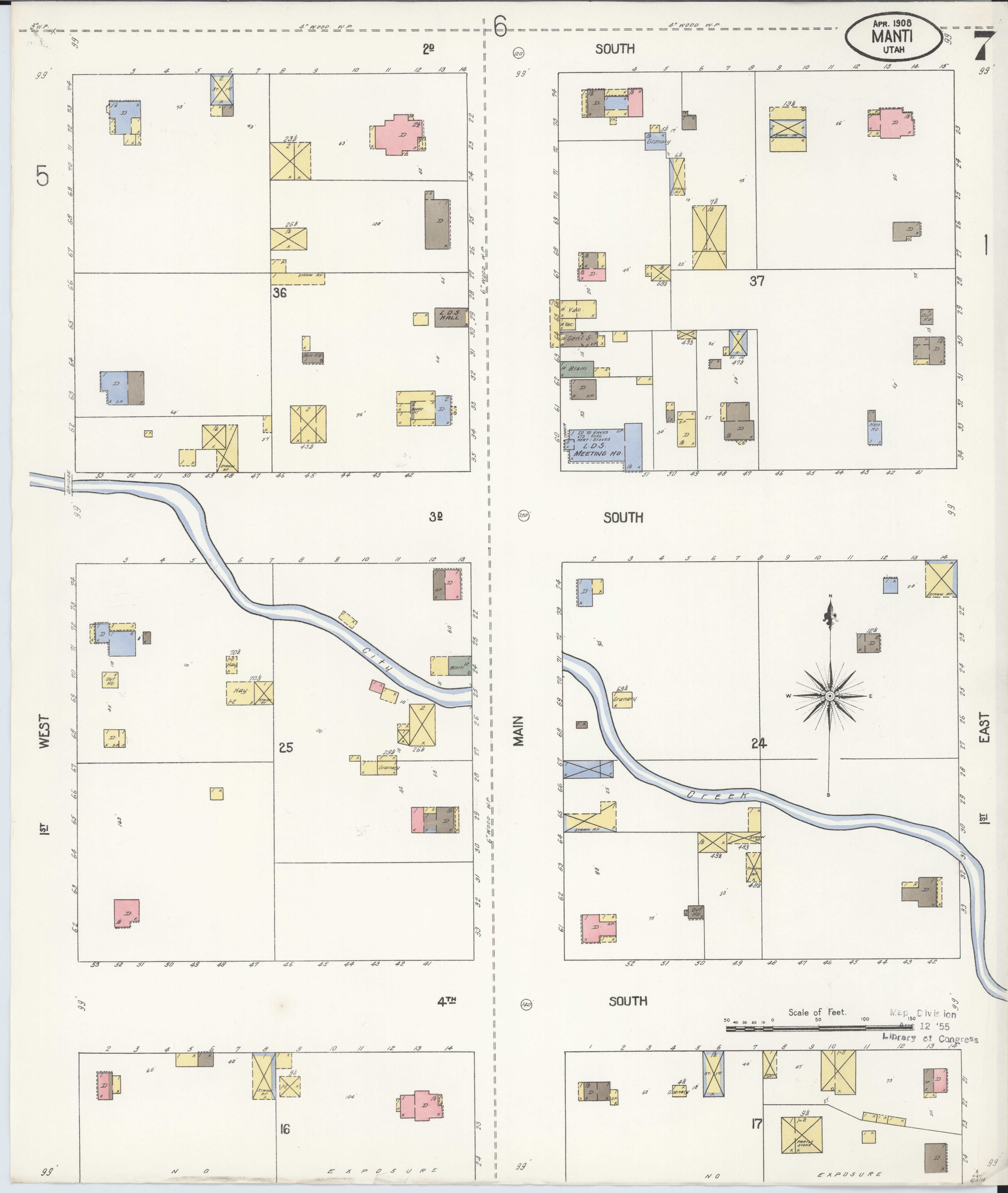 Sanpete County Utah Map.File Sanborn Fire Insurance Map From Manti Sanpete County Utah