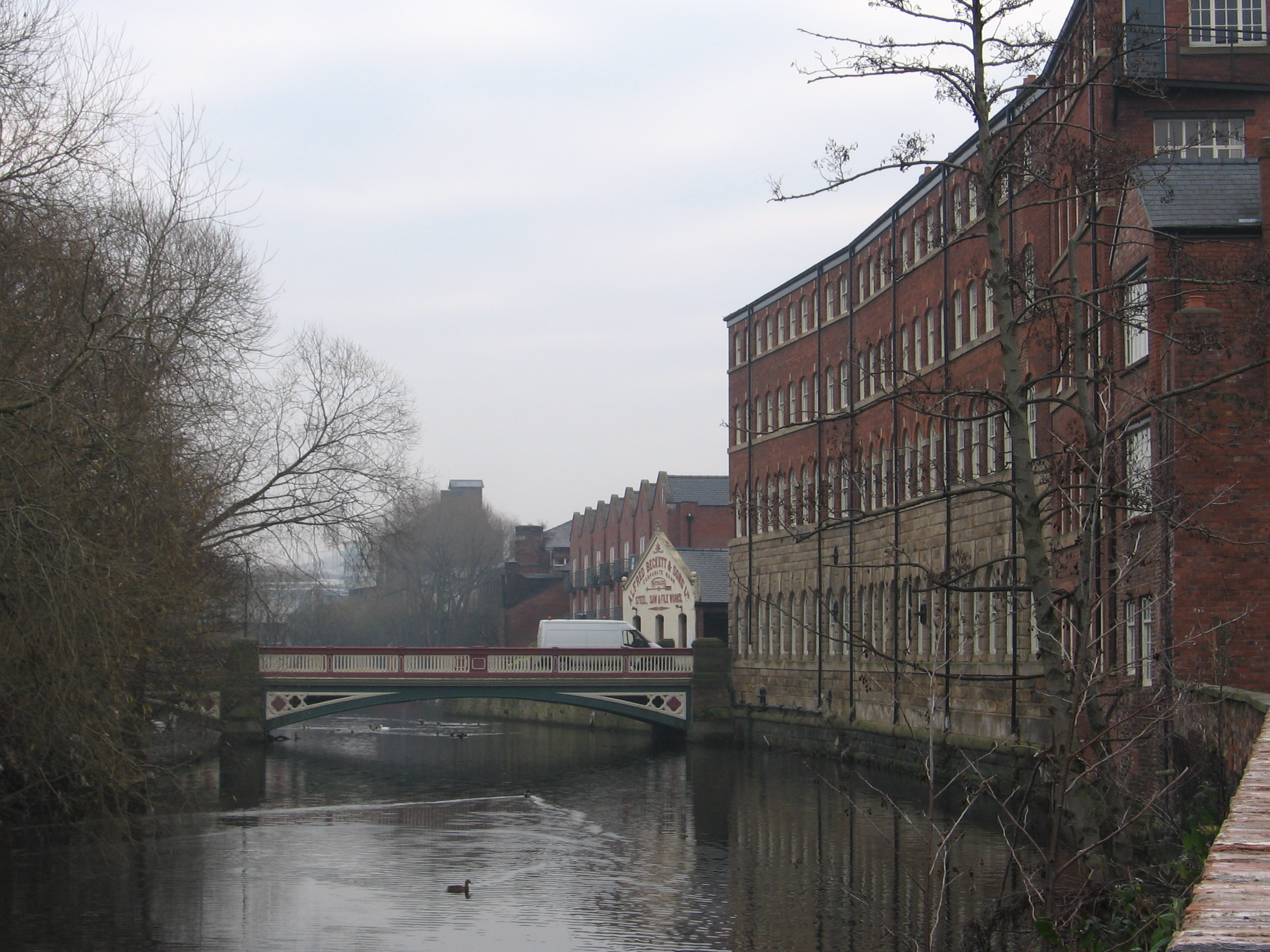 An image of the River Don, home to the ravenous water gods of Sheffield folklore