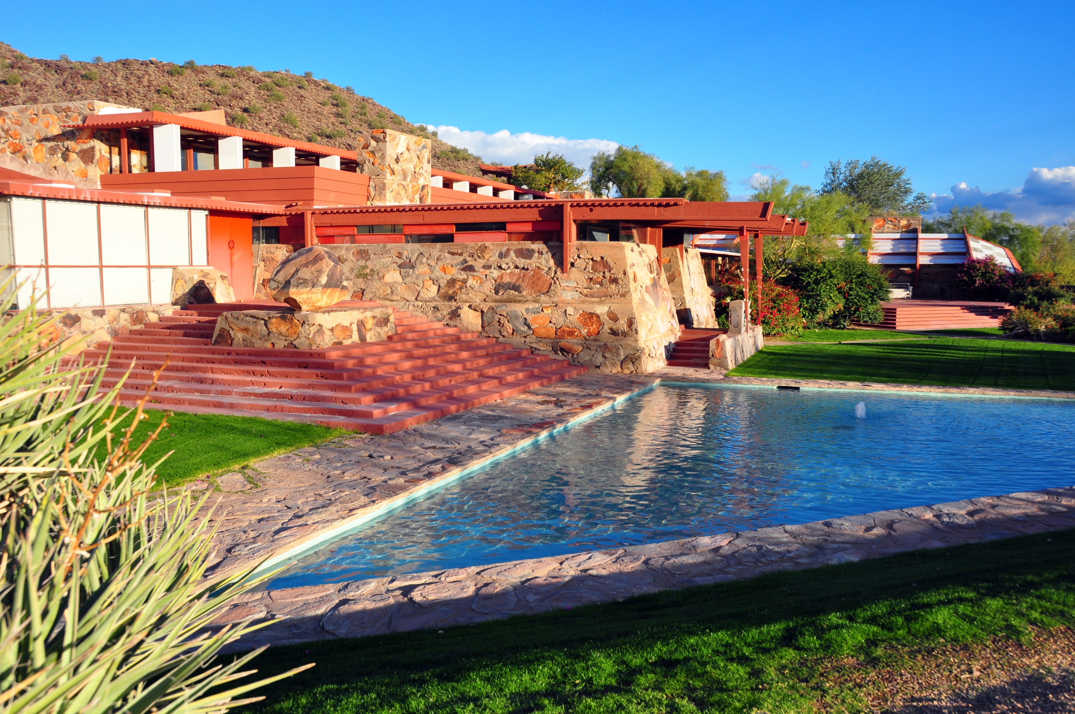 the work of frank lloyd wright in building taliesin west Touring the arizona legacy of frank lloyd wright living room at frank lloyd wright's taliesin west building is another wright project designed for.