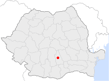 Location of Târgovişte