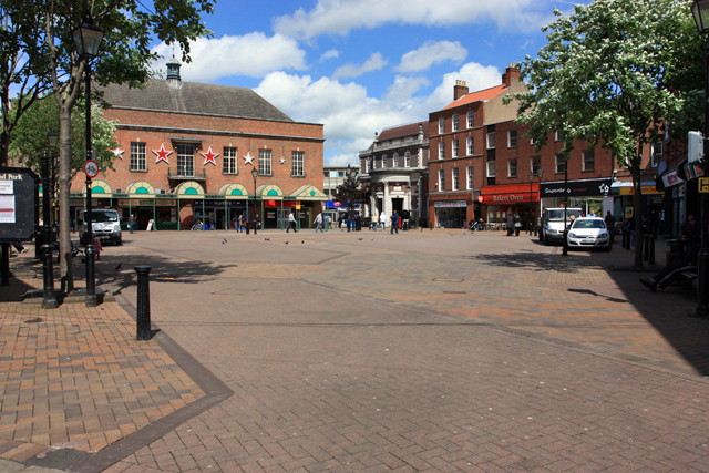 The Market Place, Gainsborough - geograph.org.uk - 1320433