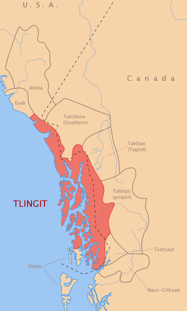 Map Of Canada Languages.Tlingit Language Wikipedia