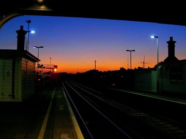 File:Trackmen's Cabins silhouetted at the Putney end of Clapham Junction - geograph.org.uk - 1601670.jpg