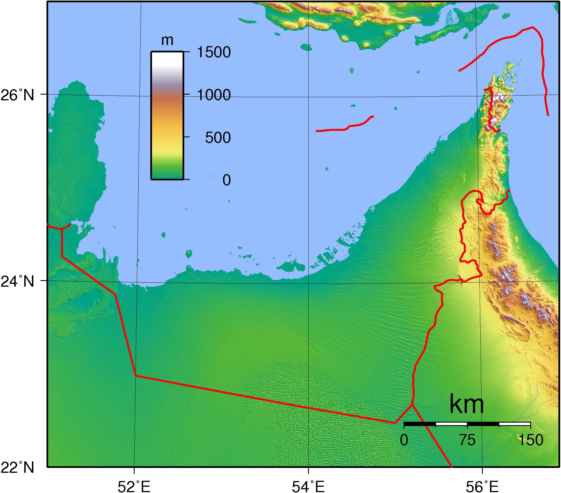 Topographic Map Of Saudi Arabia.File United Arab Emirates Topography Png Wikimedia Commons