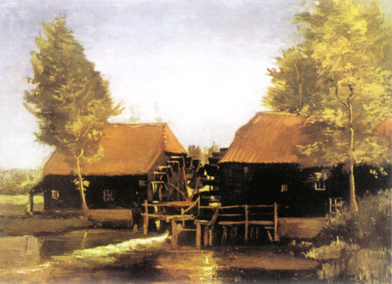 Van Gogh, The water mill at Kollen