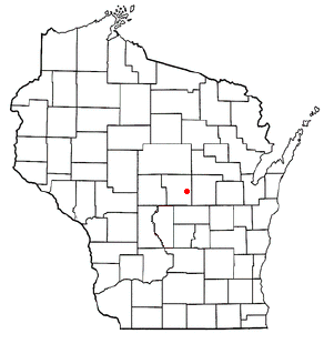 Location of Amherst (town), Wisconsin
