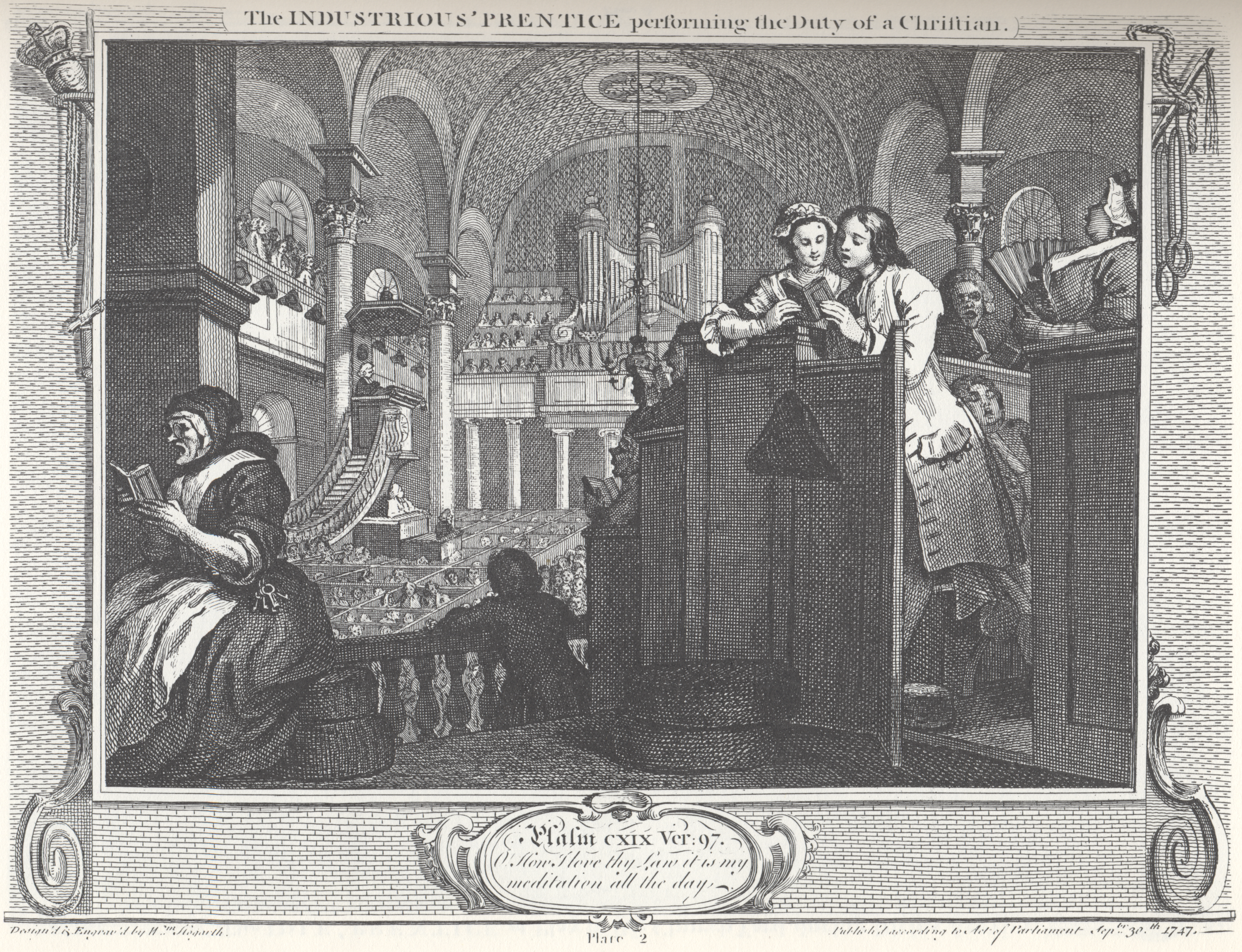 industry and idleness plate 2 the industrious prentice performing the duty of a christian edit