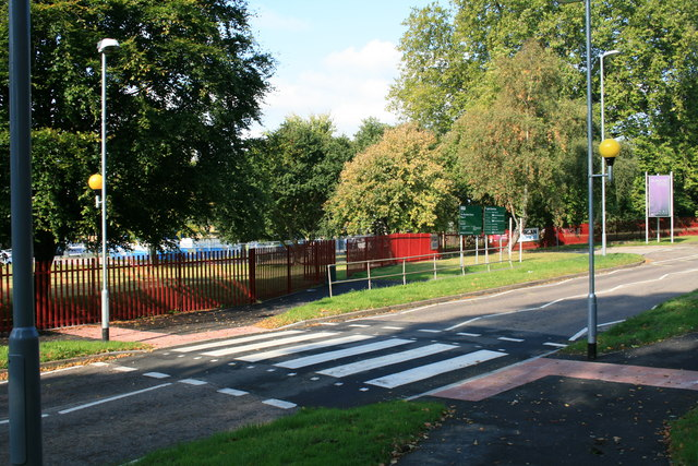 Zebra crossing outside Blandford School to walk to school