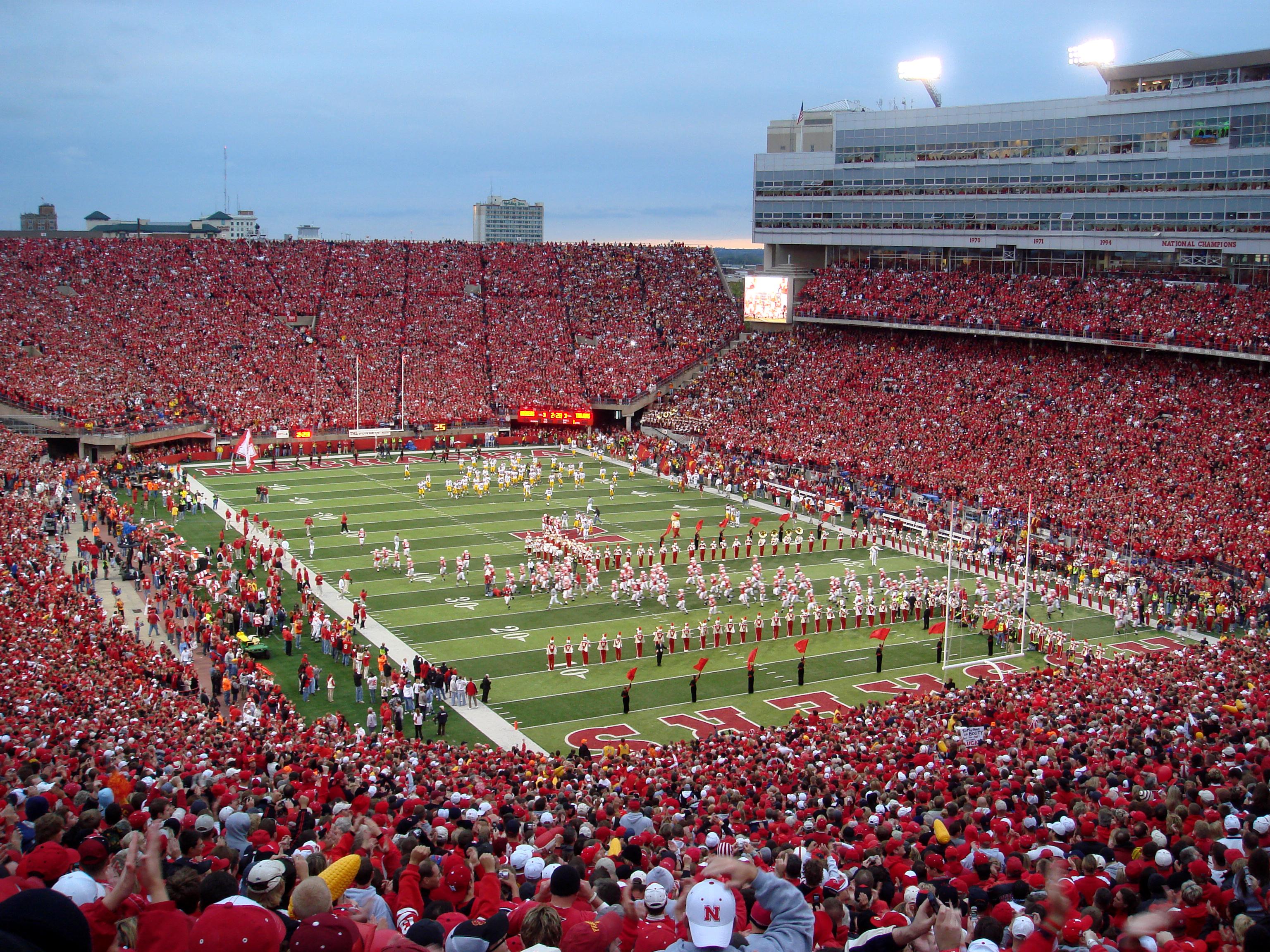 memorial stadium amazing college stadiums