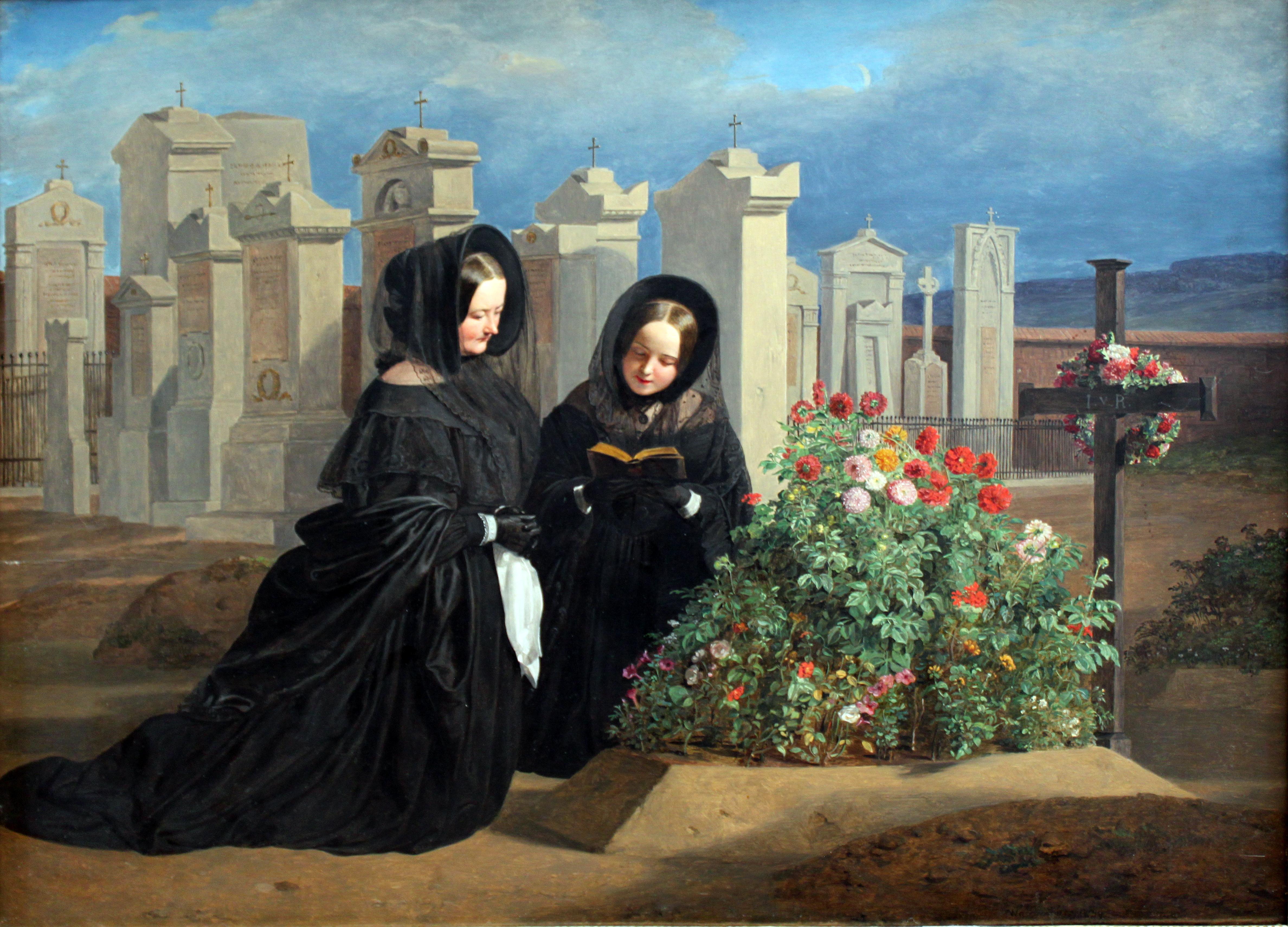 Ferdinand Georg Waldmüller  (1793–1865) - W Dzień Zaduszny