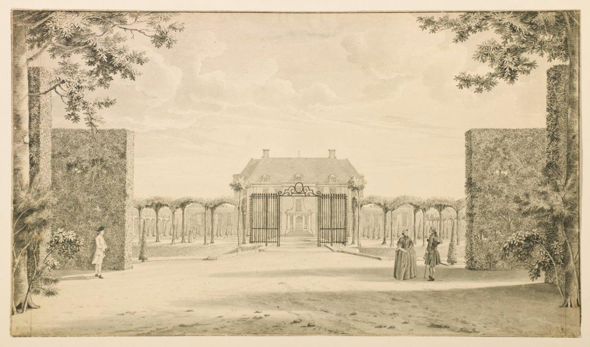 File 18e eeuwse tekening van de bosch en het tuinontwerp van zocher 1831 zeist 20429336 - Tuinontwerp ...