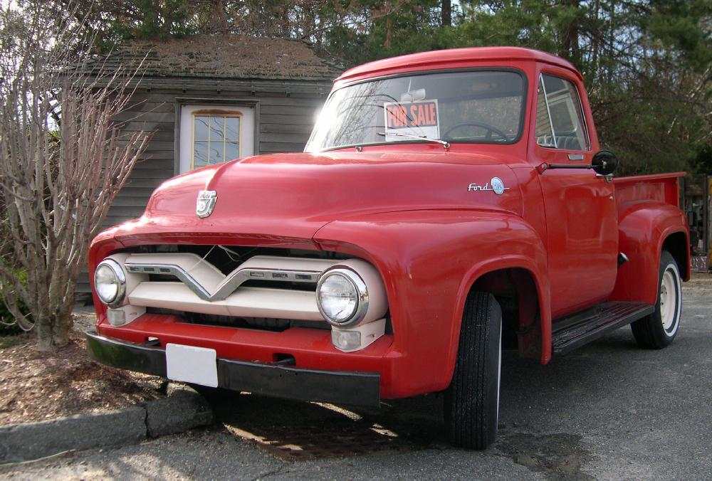 File 1955 Ford F 100 Front Jpg Wikipedia