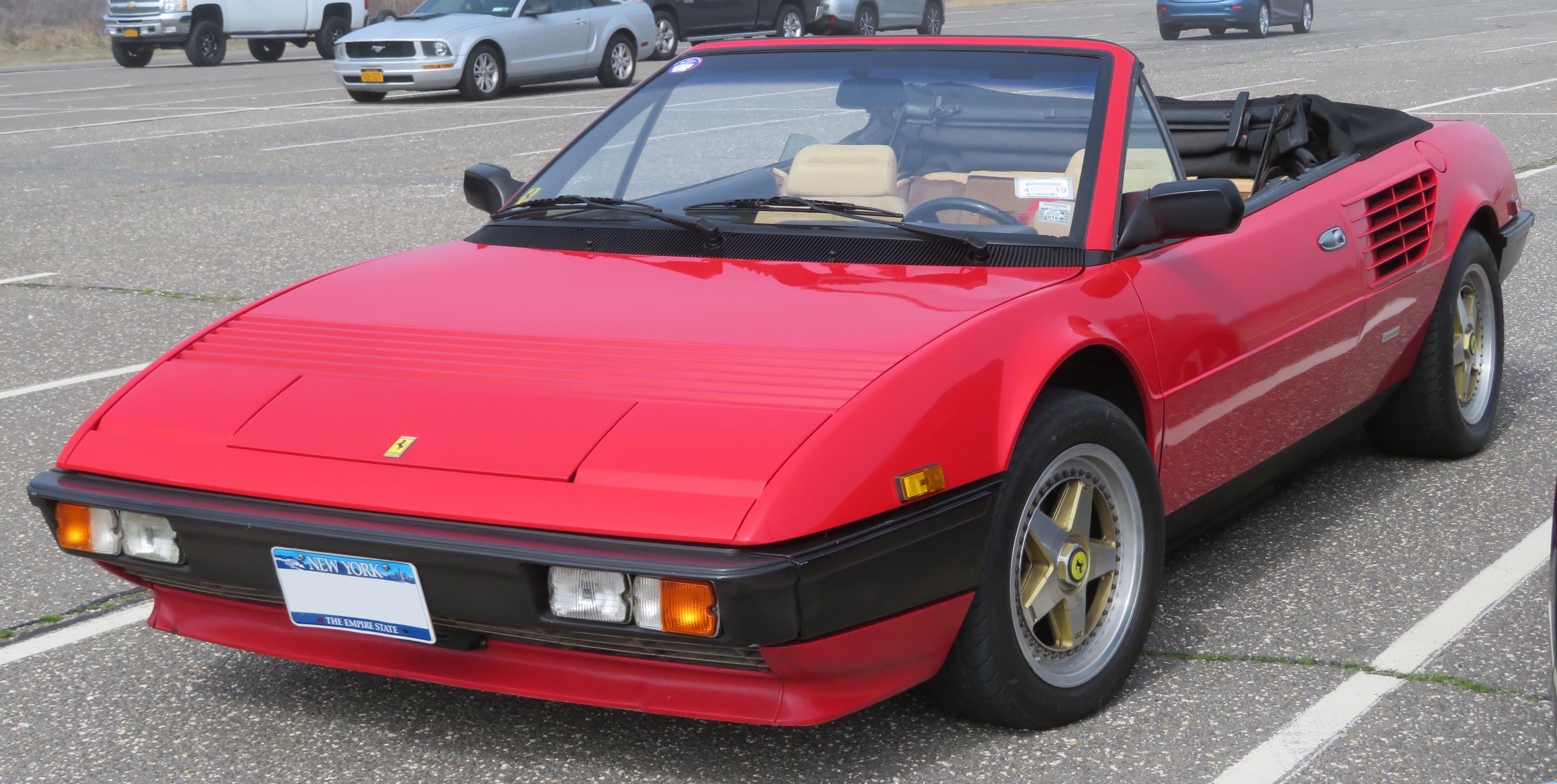 File 1984 Ferrari Mondial Cabriolet Front 4 28 18 Jpg Wikimedia Commons