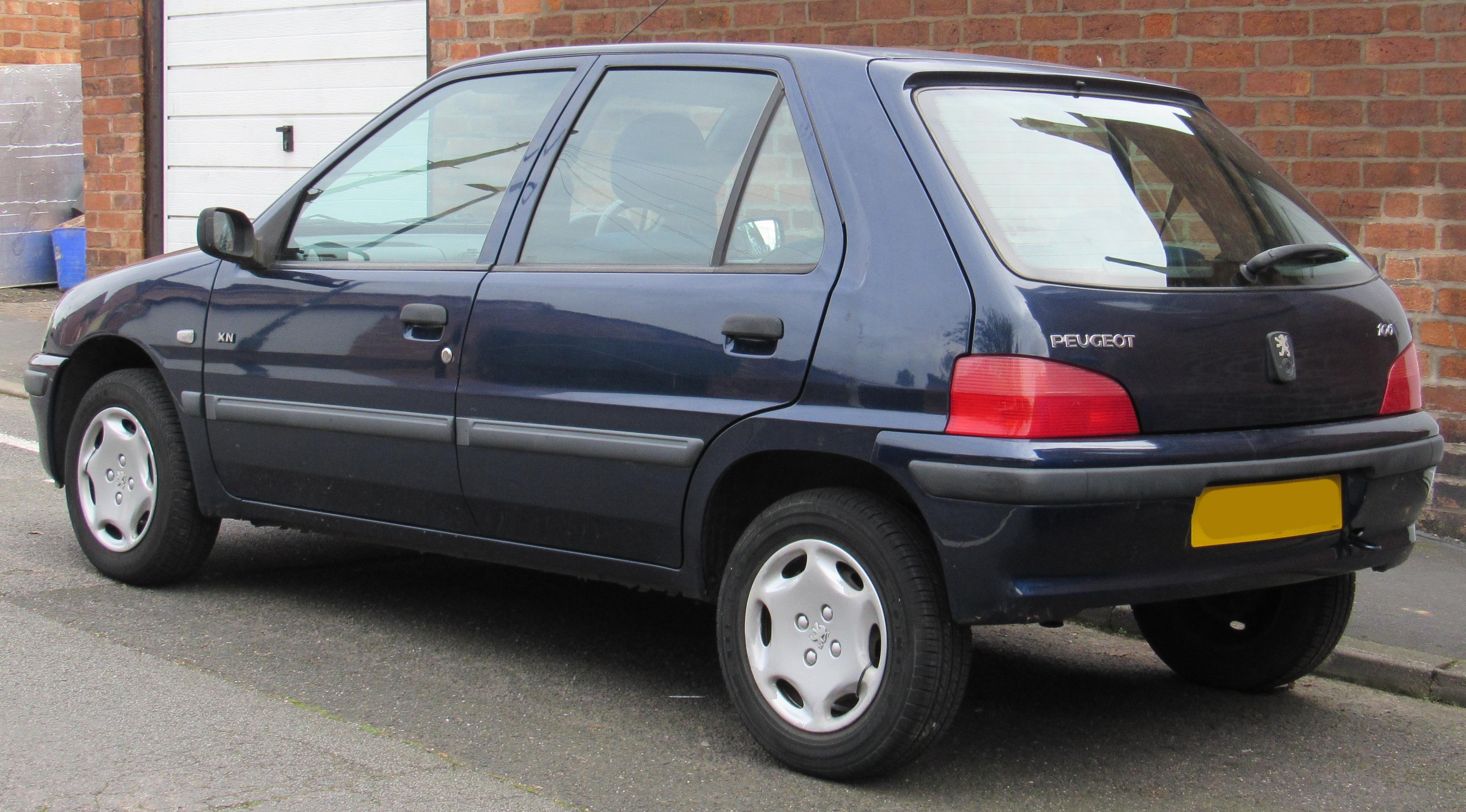 File 2001 Peugeot 106 Xn Zest 2 1 1 Rear Jpg Wikimedia