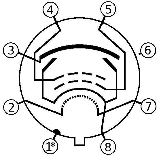 6v6 Pinout Diagram