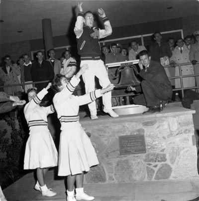 Ringing of the Victory Bell, Arizona State University circa 1956 ASU Victory Bell in 1956.jpg