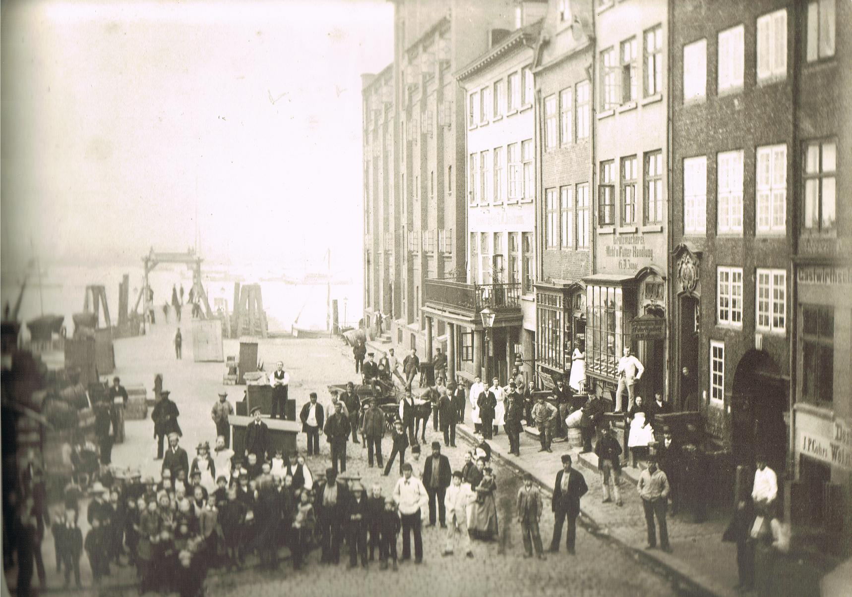 File:Altonaer Fischmarkt, G. Weber, 1858.jpg