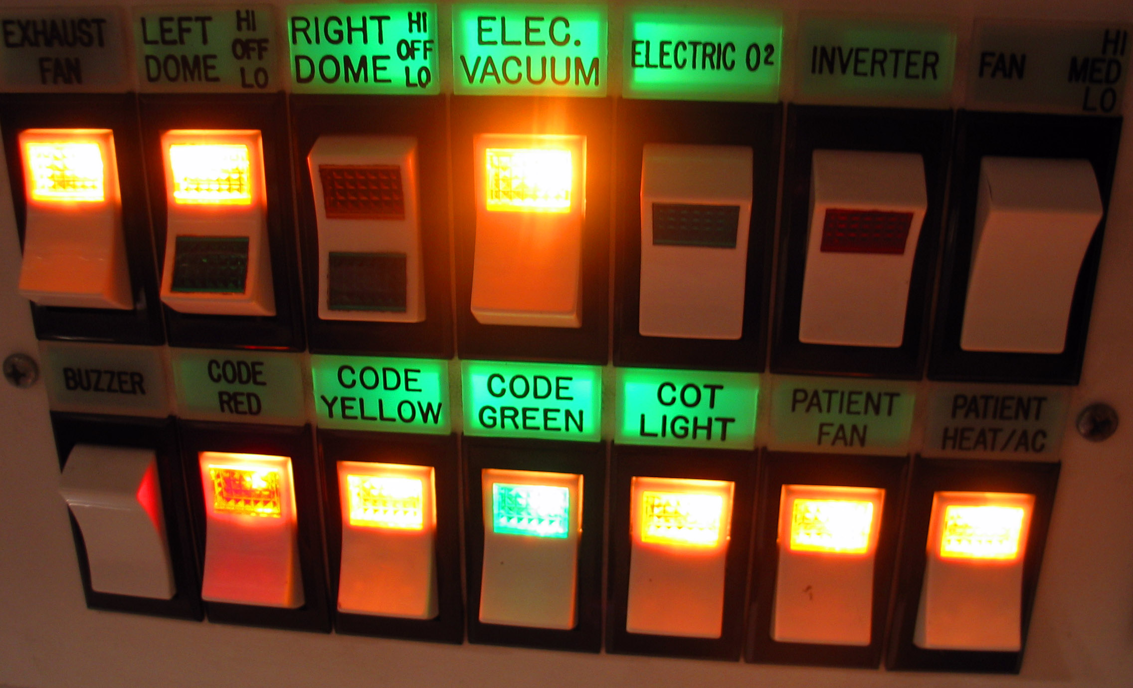 File:Ambulance Control Panel - Lighted switches.jpg - Wikimedia Commons