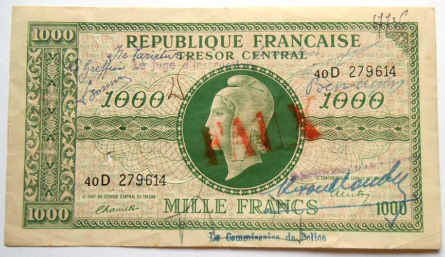 Billet du Trésor, 1000 francs, faux.jpg