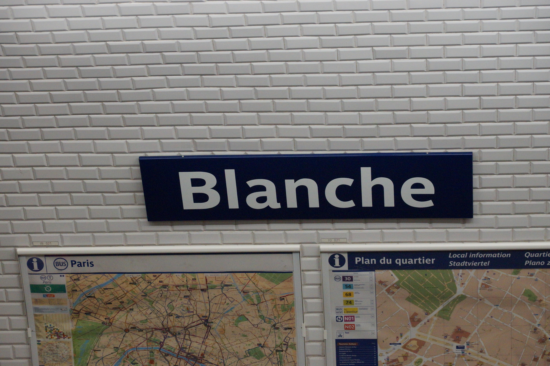 File Blanche metro station  Paris 7 April 2014 008