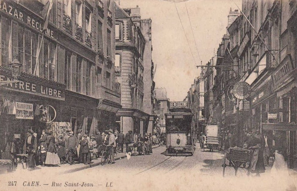 File caen ruesaintjean tram wikimedia commons - Rue saint laurent caen ...