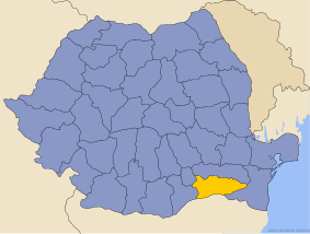 Administrative map of Руминия with Калараш county highlighted