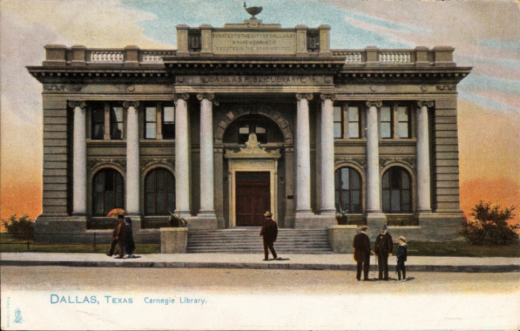 File:Carnegie Library, Dallas, Texas (postcard).jpg