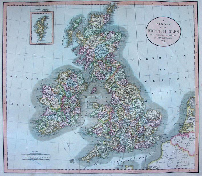 ''A New Map of the British Isles, from the Latest Authorities 1807'', from John Cary's ''New Universal Atlas''