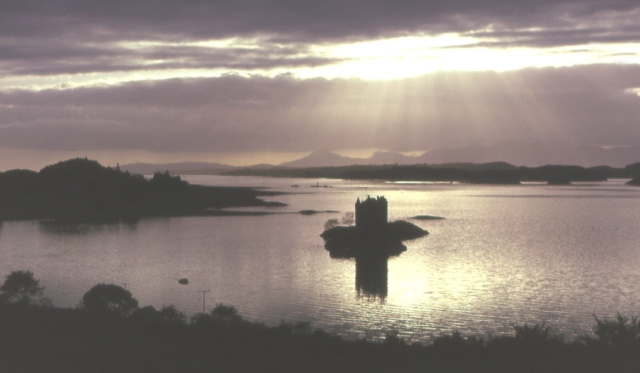 Castle Stalker. A different take on one of Scotland's chocolate-box views.