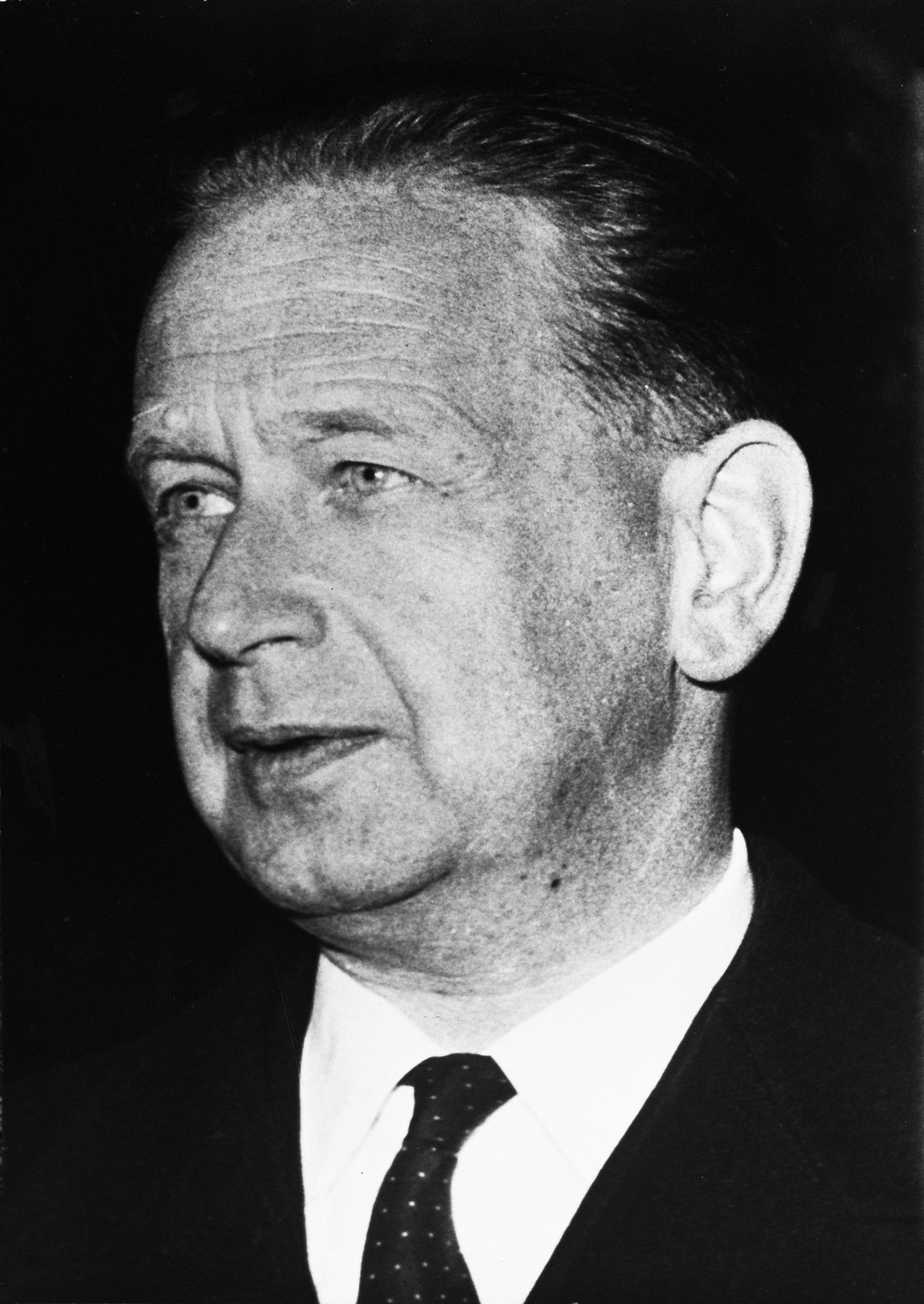 Hammarskjöld on 18 September 1961, the day he died in a plane crash