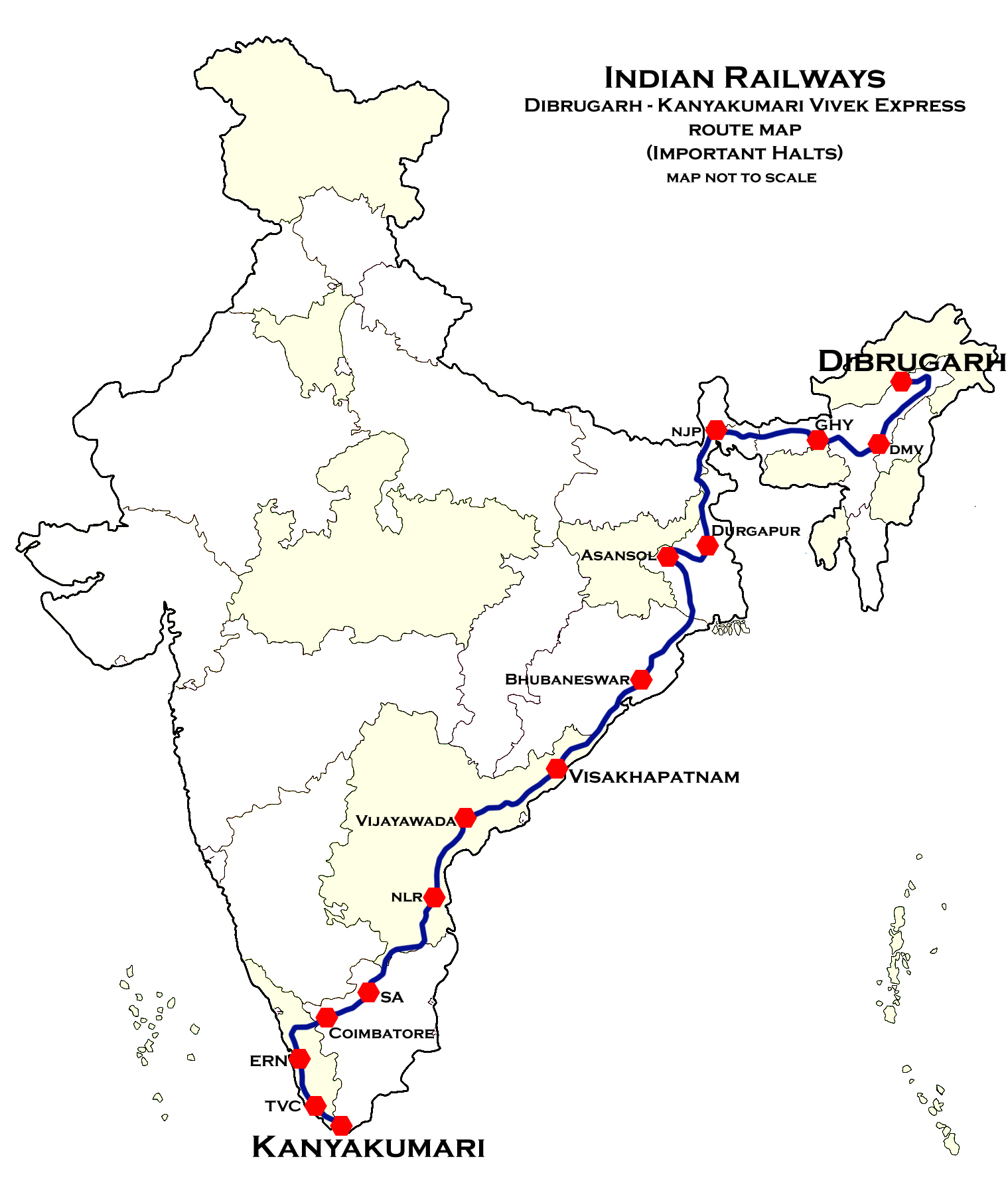 File:Dibrugarh - Kanyakumari Vivek Express Route map.jpg - Wikimedia on