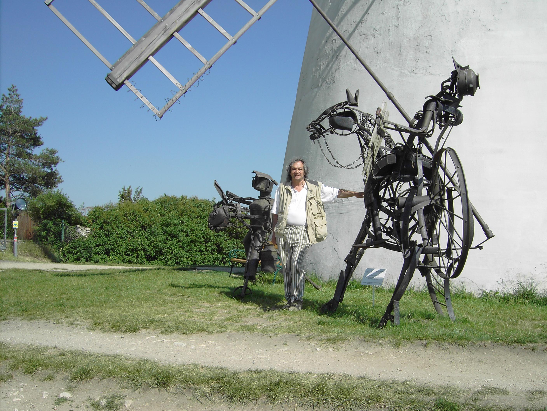 Datei Don Quijote Und Sancho Panza Aus Alteisen Von Otto Potsch