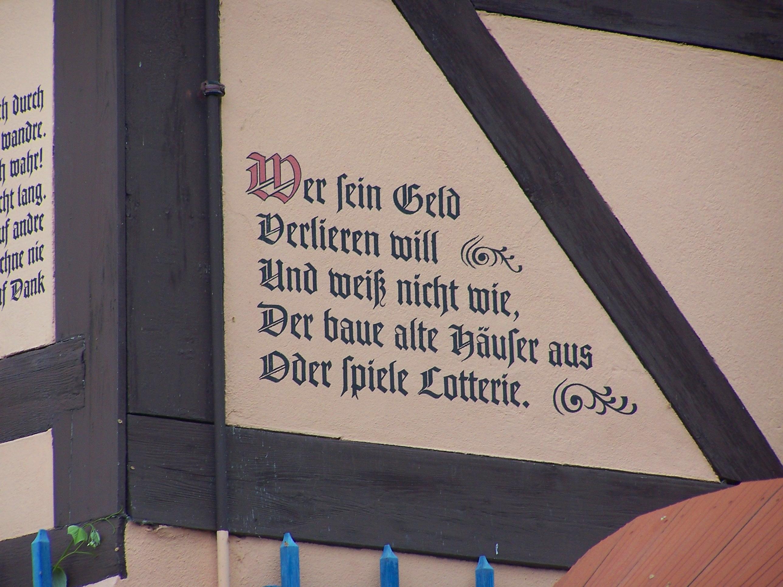 Datei:Dresden Spruch Fachwerkhaus Loschwitz. – Wikipedia