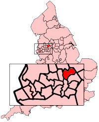 Rochdale shown within England