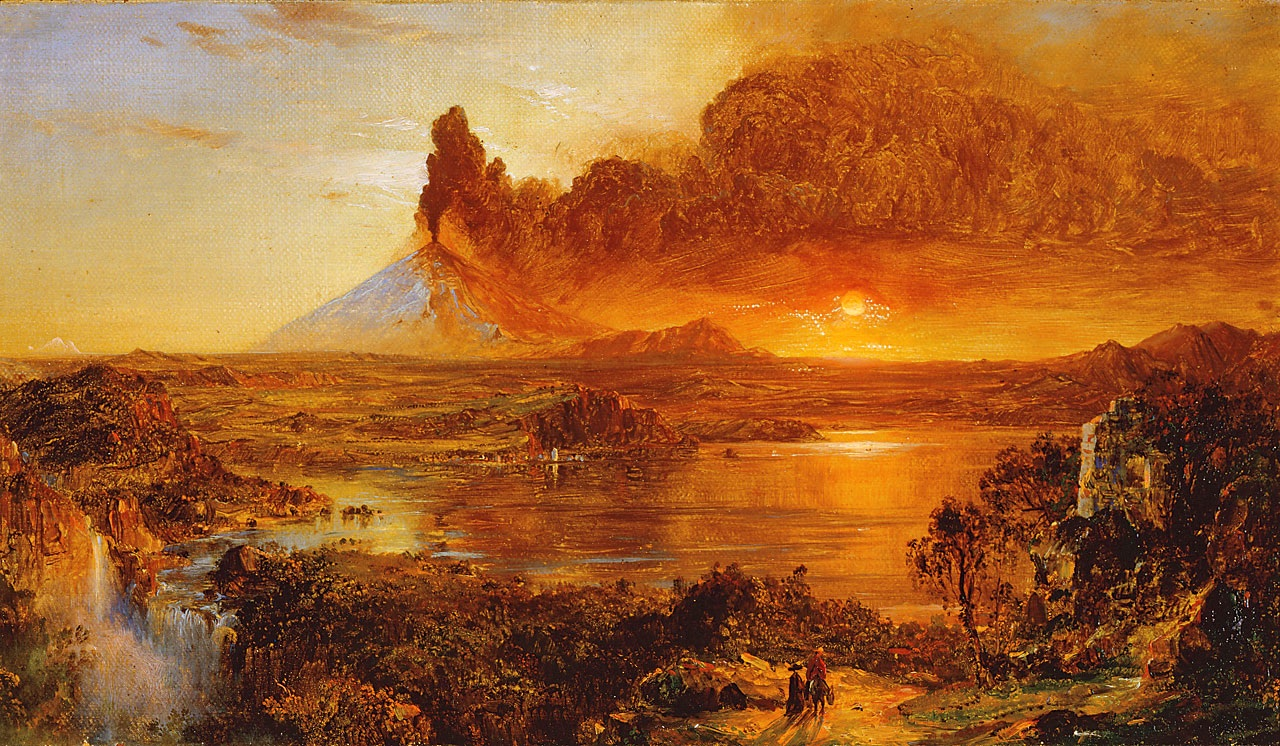 File eruption at cotopaxi frederic edwin for Frederick church paintings