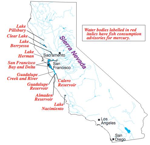 Bodies Of Water In California Map.Mercury Contamination In California Waterways Wikipedia